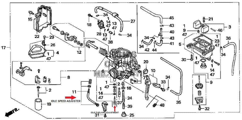 2004 400ex wiring schematic air cut off valve honda trx atv forum  air cut off valve honda trx atv forum